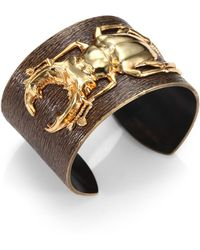 Iam By Ileana Makri - 18k Goldplated Bronze Beetle Cuff - Lyst