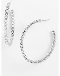 Nadri Large Inside Out Hoop Earrings - Lyst