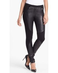 Rebecca Minkoff Telescope Knit Leather Pants - Lyst