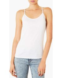 Topshop Strappy Camisole - Lyst