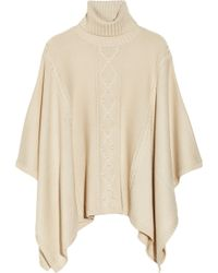 Alice By Temperley - Octavia Cable Knit Wool Blend Poncho - Lyst