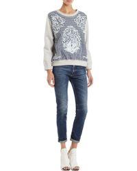 Betina - Baroque Embroidered Plaid Sweatshirt - Lyst