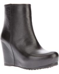 Car Shoe - Goat Skin Wedge Boots - Lyst
