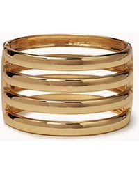 Forever 21 - Cutout Striped Hinge Cuff - Lyst