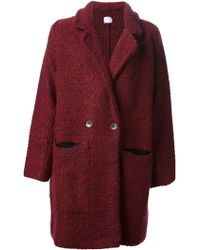 Lala Berlin - Woven Double Breasted Coat - Lyst