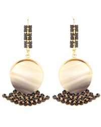 Marni - Crystal Embellished Horn Earrings - Lyst