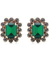 Mawi - Crystal Gemstone Clip Earrings - Lyst