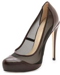 Max Kibardin - Leather Court Shoes with Net - Lyst