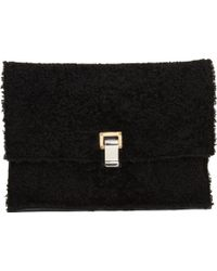 Proenza Schouler Large Lunch Bag Clutch Shearlingleather - Lyst