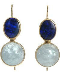 Sandra Dini - Aquamarine Blue Opal Earrings - Lyst