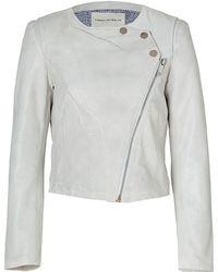 Twenty8Twelve - White Wash Lamb Leather Jacket - Lyst