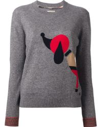 Burberry Brit Printed Sweater - Lyst