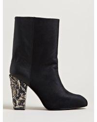 Damir Doma Womens Felta High Heel Leather Boots