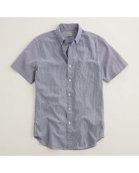 J.Crew Factory Short Sleeve Washed Shirt - Lyst