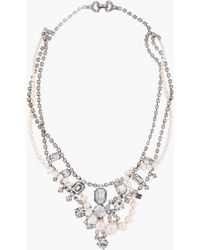Tom Binns - White Pearl and Crystal Small Grande Dame Necklace - Lyst