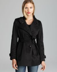 Via Spiga Trench Coat Asymmetric Military - Lyst