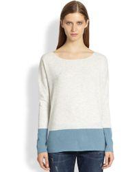 Vince Cashmere Colorblock Sweater - Lyst