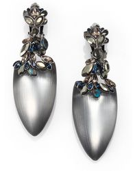 Alexis Bittar Jeweled Lucite Drop Earrings gray - Lyst