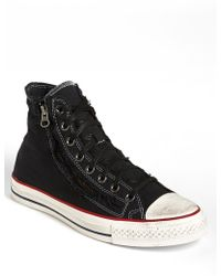 Converse Chuck Taylor All Star Distressed Double Zip High Top Sneaker - Lyst