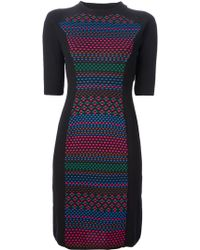 M Missoni Patterned Knit Sweater Dress - Lyst