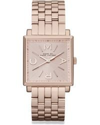 Marc By Marc Jacobs Rose Goldtone Stainless Steel Square Watch - Lyst