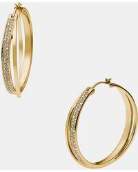 MICHAEL Michael Kors  Brilliance Hoop Earrings - Lyst