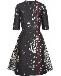Preen By Thornton Bregazzi Atlantic Printed Sateen Dress - Lyst