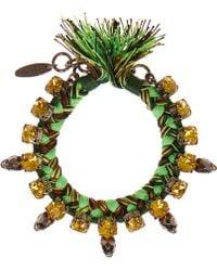 Joomi Lim - Green Punk Carnival Skull Bracelet - Lyst