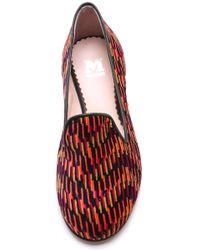 M Missoni - Printed Smoking Slippers - Lyst
