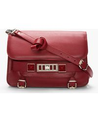 Proenza Schouler Red Leather Ps11 Classic Bag - Lyst