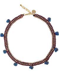 Venessa Arizaga - Red Elephant Skull Charm Necklace - Lyst