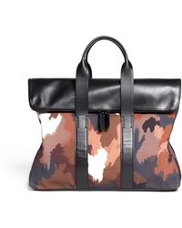 3.1 Phillip Lim - Camouflage Printed Canvas 31 Hour Bag - Lyst