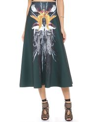 Clover Canyon Wings Midi Skirt - Lyst