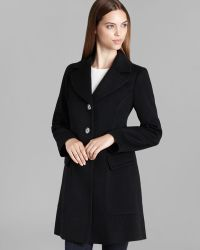 Fleurette - Coat Wool Notch Collar Seam Detail - Lyst