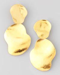 Herve Van Der Straeten Vibrations Goldplate Drop Earrings - Lyst