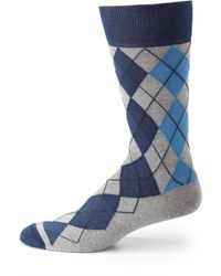 Hook + Albert - Argyle Dress Socks - Lyst