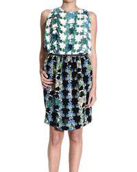 M Missoni Floral-Print Pleated Sleeveless Dress - Lyst