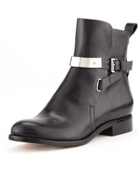 Michael Kors Amaya Leather Ankle Boot - Lyst