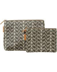 Orla Kiely - Linear Stem Grey Cosmetics Bag - Lyst