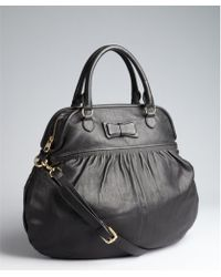 RED Valentino Black Leather Bow Detail Convertible Top Handle Bag - Lyst