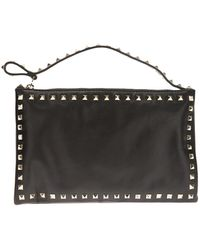 RED Valentino Studded Clutch - Lyst
