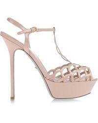Sergio Rossi Pink Sandals - Lyst