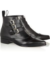Tabitha Simmons Early Leather Ankle Boots - Lyst