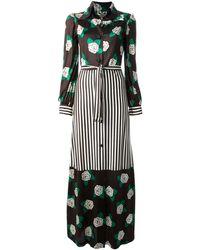 Valentino Vintage Floral Striped Dress - Lyst