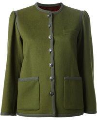Yves Saint Laurent Vintage 1970S Contrast Jacket - Lyst