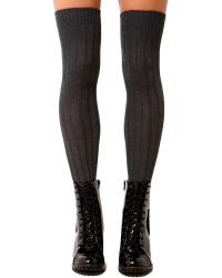 AKIRA - Ribbed Knee High Socks  - Lyst