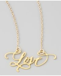 Brevity - Love Hand-calligraphed Necklace - Lyst