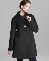 Ellen Tracy - Coat Angora Centre Button - Lyst