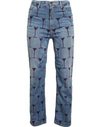 House Of Holland Cocktail Printed Boyfriend Jeans - Lyst