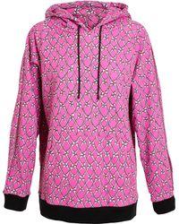 Jeremy Scott Bone Printed Cotton Hooded Sweatshirt - Lyst